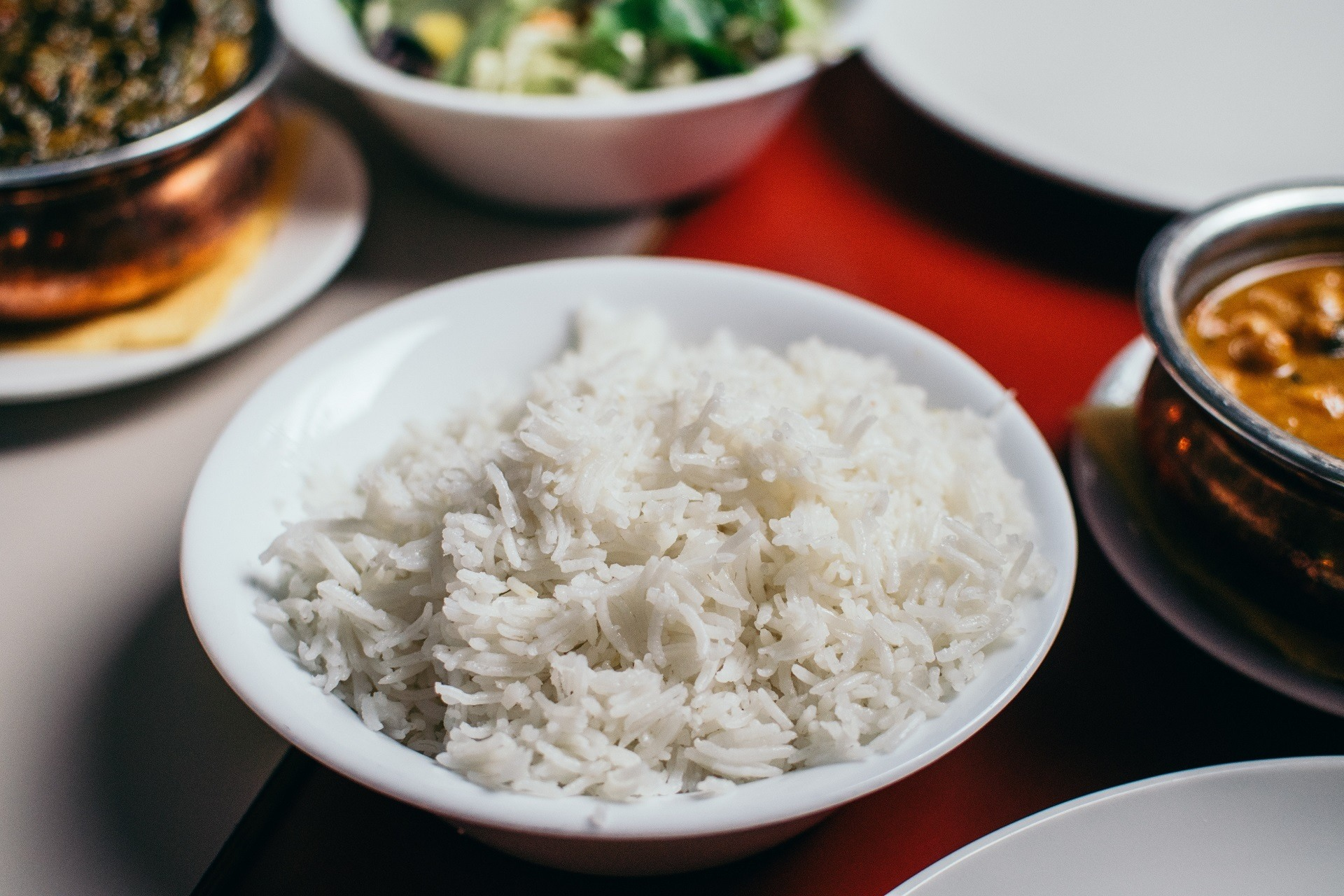 bowl of plain rice