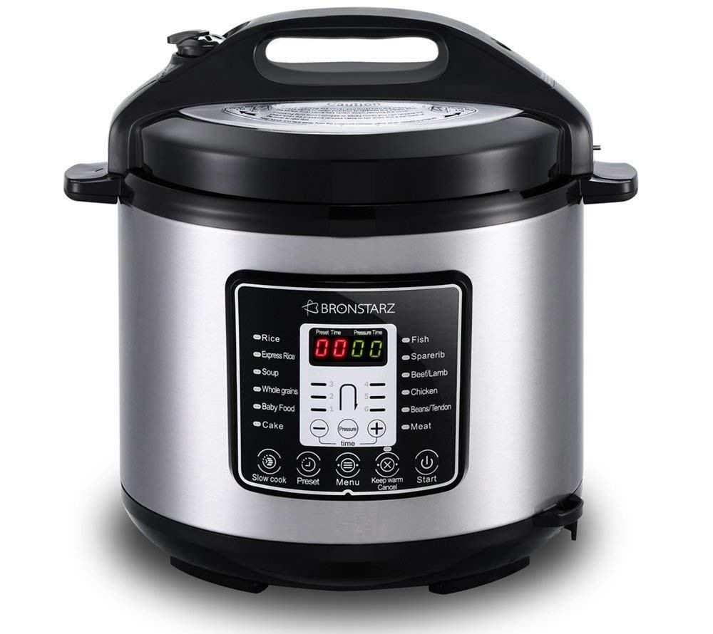 bronstarz 6-quart 8-in-1 electric pressure cooker