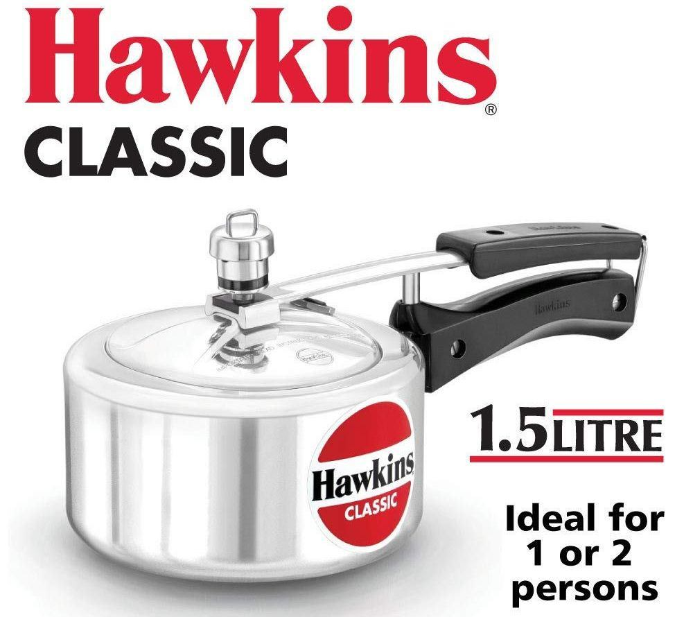 hawkin classic 1.5-litre aluminum pressure cooker